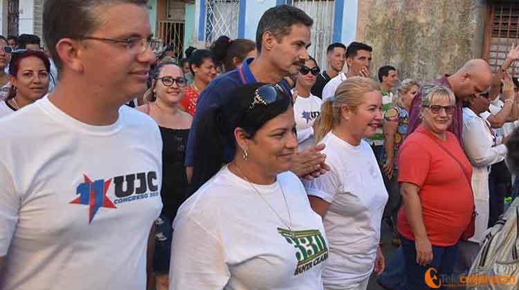 Las máximas autoridades del Partido y el Gobierno acompañaron a la juventud este 27 de noviembre.