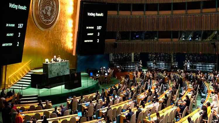 Apoyo abrumador en la Asamblea General de Naciones Unidas al levantamiento del bloqueo
