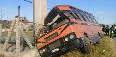 Accidente de tránsito en Sagua la Grande