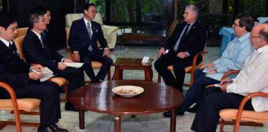 Recibió Díaz-Canel al enviado especial del Primer Ministro de Japón