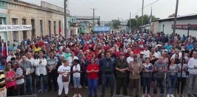 Celebra Sagua la Grande acto municipal en saludo al Aniversario 61 del Triunfo de la Revolución