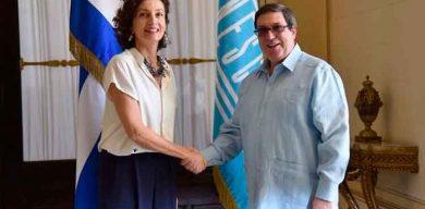 Canciller cubano recibe a Directora General de la UNESCO