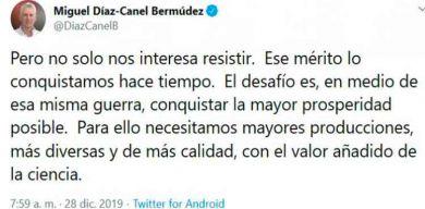 Díaz-Canel: «El desafío es conquistar la mayor prosperidad posible»