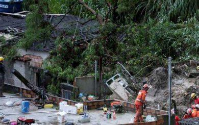 Sube a 56 la cifra de muertos por lluvias en Brasil