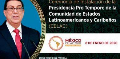 Canciller cubano asistirá a instalación de la presidencia pro tempore de la Celac en México