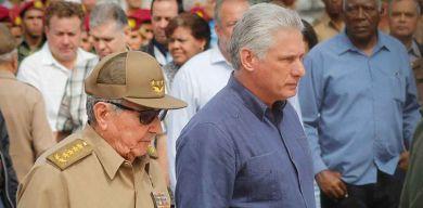 Presiden Raúl y Díaz-Canel duelo de despedida a Asela de los Santos