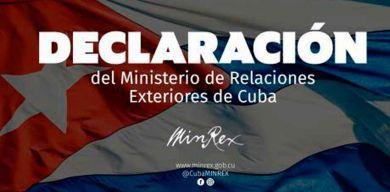 MINREX: Cuba rechaza pretextos de autoridades golpistas de Bolivia para suspender relaciones diplomáticas