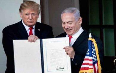 Trump alista sepultura del Estado palestino