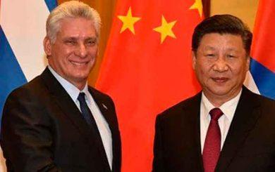 Sostuvo Díaz-Canel conversación telefónica con Xi Jinping