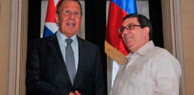 Cancilleres de Cuba y Rusia dialogan sobre cooperación y contra el bloqueo