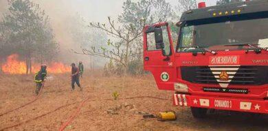 Sofocan incendio forestal en Santa Clara