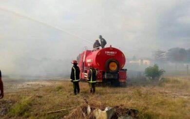 Controlan incendio en Inpud Primero de Mayo de Santa Clara