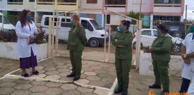 Recorre Presidenta del Consejo de Defensa en Villa Clara área en cuarentena en Camajuaní